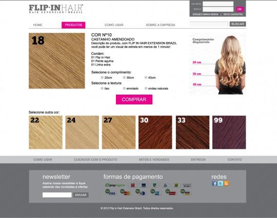 Página de visualização do produto
