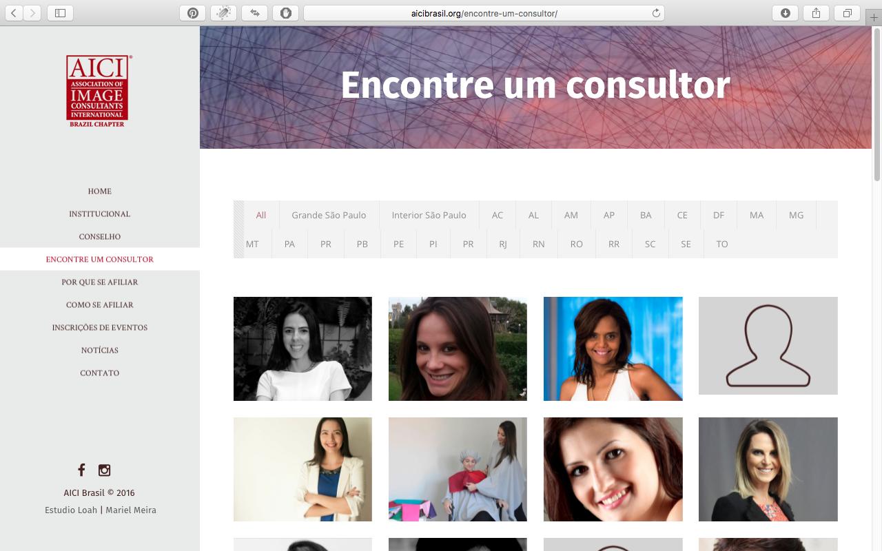 Busca de consultores por região do Brasil